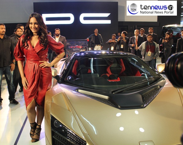 Sonakshi Sinha Unveils DC TCA At Auto Expo The Motor Show - 2018 car show dc