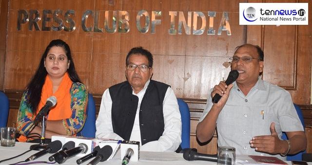 Akhil Bhartiya Kushwaha Mahasabha President JP Verma at Press Conference in Press Club of India