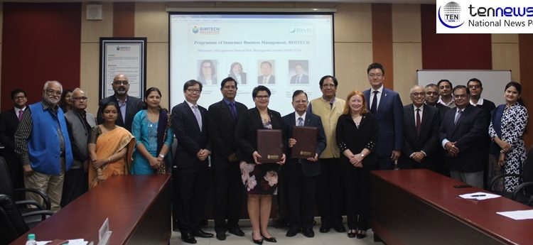 USA based RIMS signs MOU with BIMTECH, Greater Noida to enhance risk management awareness