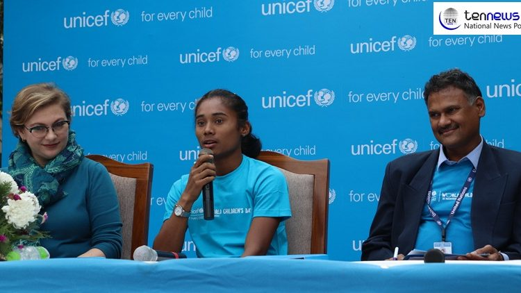 UNICEF India Appoints Sprint Sensation Hima Das as the first ever 'Youth Ambassador'