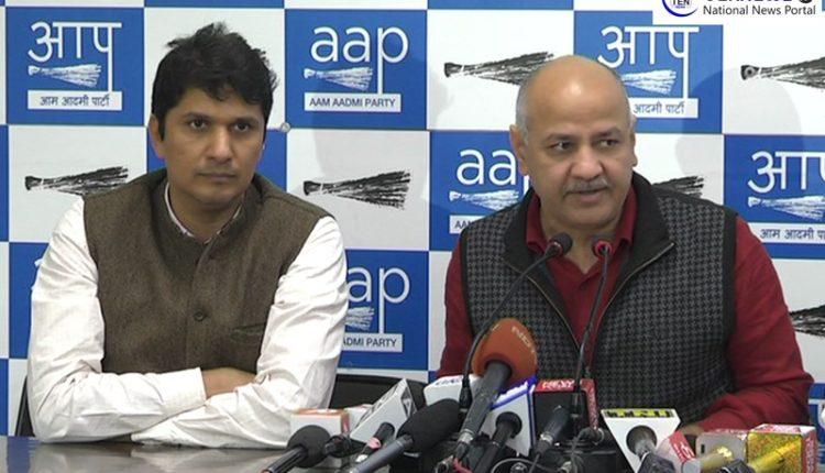 Manish Sisodia targets Delhi police and BJP over attack on Arvind Kejriwal