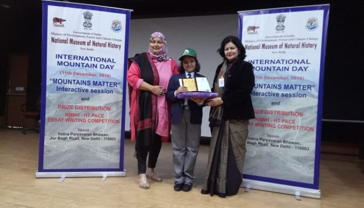Ryanite Ameishi Raghu Awarded at HT Peace Essay Writing Competition