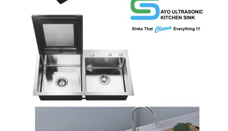 सायो अल्ट्रासोनिक किचन सिंक पहली बार भारत में लॉन्च सतह से केमिकल, पेस्टिसाइड, धूल, रोग पैदा करने वाले जीवाणु और बैक्टीरिया को साफ करता है
