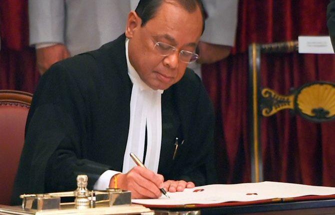 Justice Ranjan Gogoi sworn in as 46th CJI
