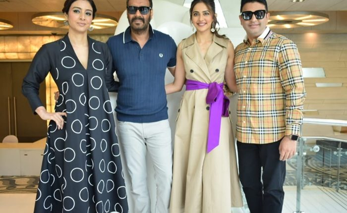 Ajay Devgan, Tabu and Rakul Preet promotes their upcoming Romcom 'De De Pyar De' in National Capital