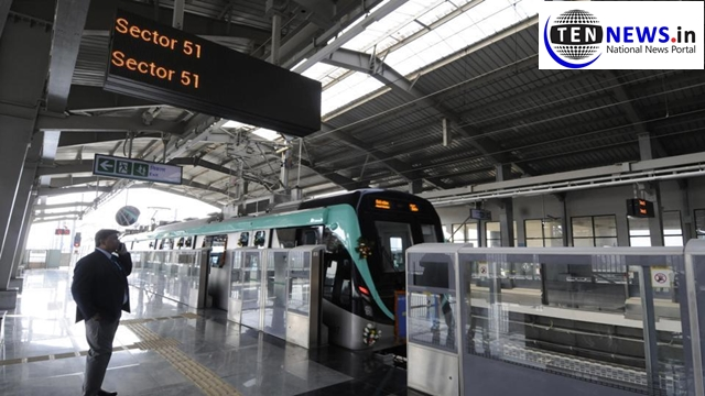 This Monday NMRC registers highest footfall in Aqua Line Metro