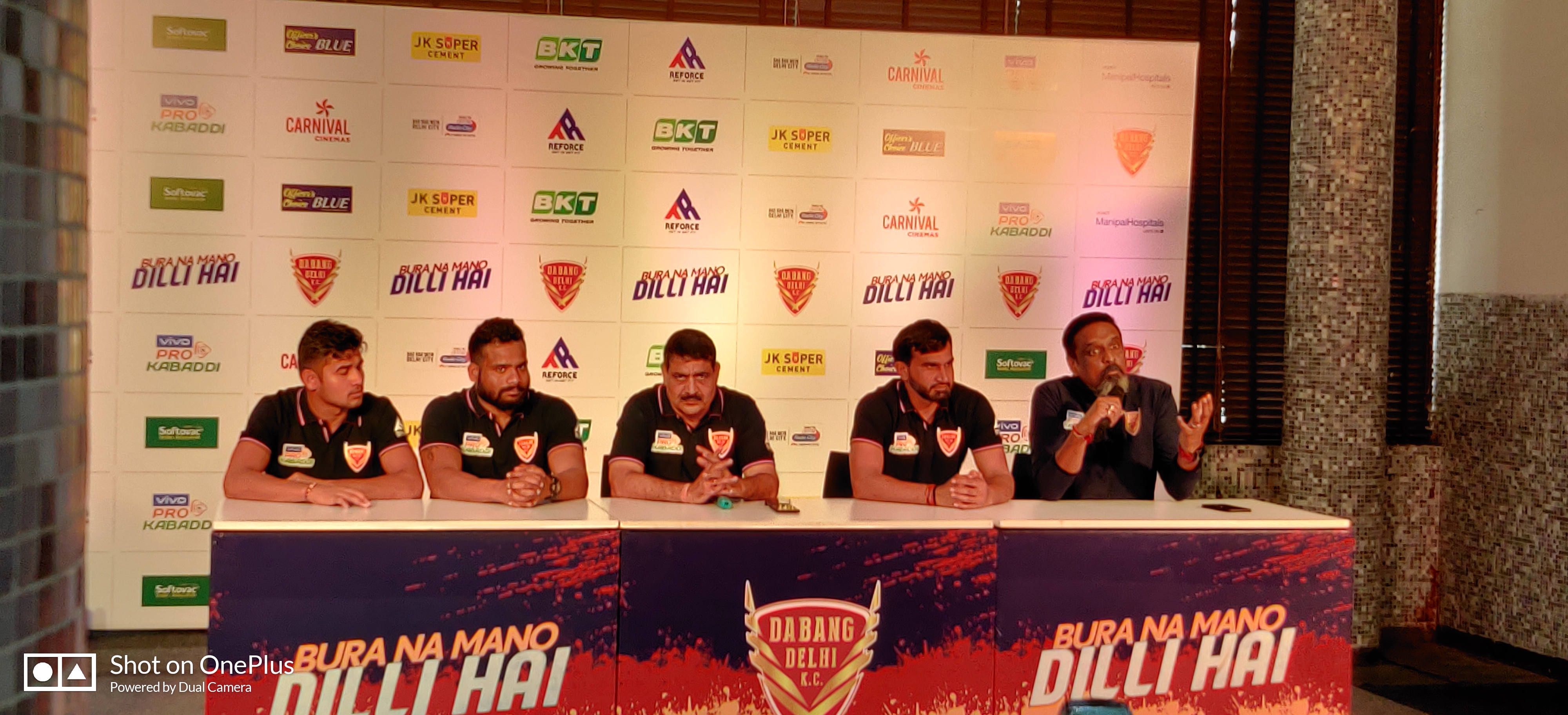 Dabang Delhi Kabaddi Team gathers for conference regarding