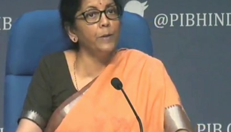 FM Sitharaman announces Rs. 1.7 lakh Crore economic relief package amid Corona