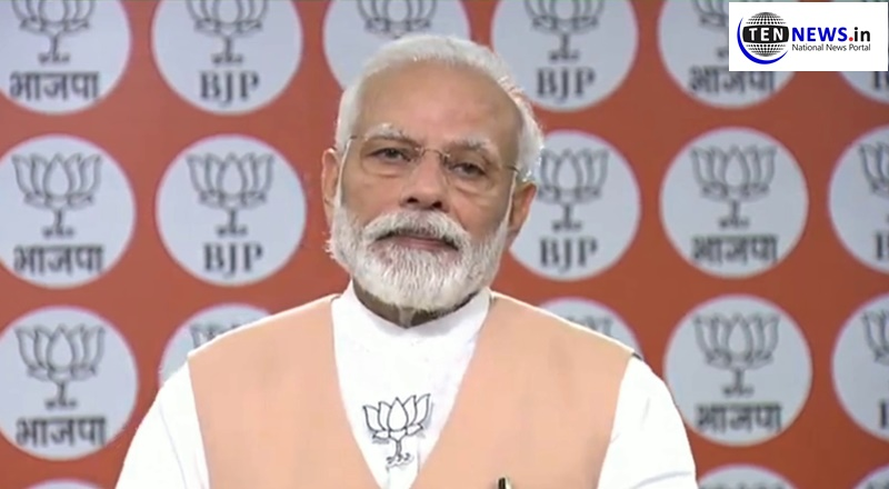 PM Modi addresses BJP workers on its 40th Foundation Day; calls for support to combat Corona