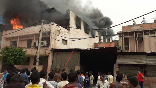 Shoe-factory-catches-fire