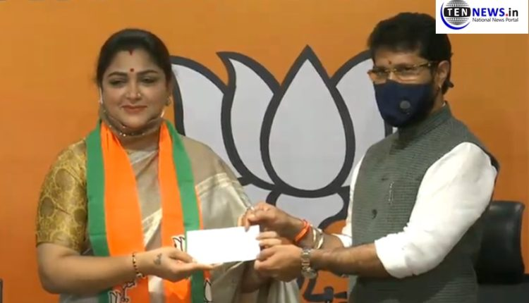 Khushbu Sundar resigns from Congress for BJP, says top leadership out of touch with reality