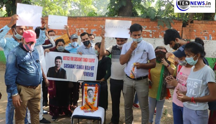 Hundreds of people stage protest demanding justice for Sushant Singh Rajput at Jantar Mantar
