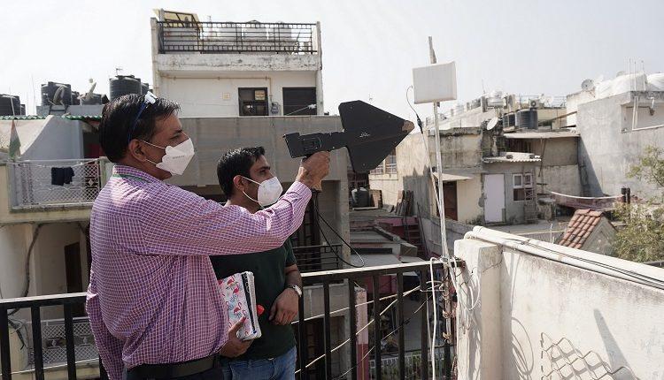 WMO Officials Removing Illegal Repaeters in Sant Nagar, New Delhi in a Drive-2