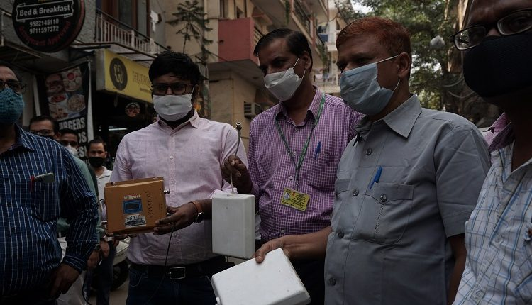 WMO Officials with Illegal Repeaters in Sant Nagar, New Delhi in a Drive