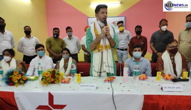 app-leader-raghav-chadha-inaugurates-medical-camp