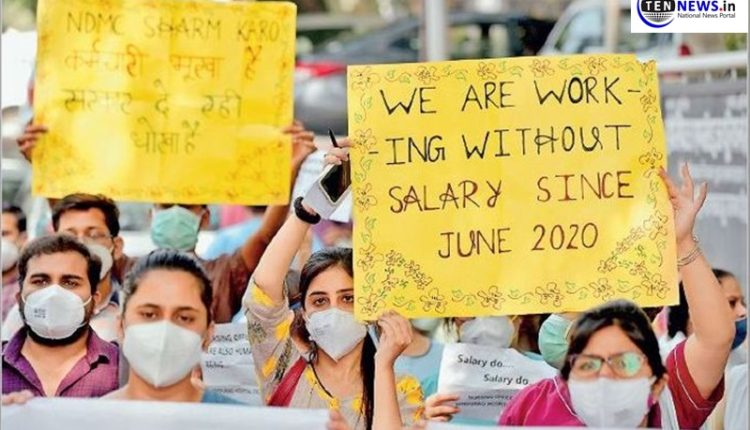 delhi-doctors-to-continue-strike-till-salary-is-released